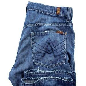 7 For All Mankind Brett A Pocket Blue Bootcut Jean